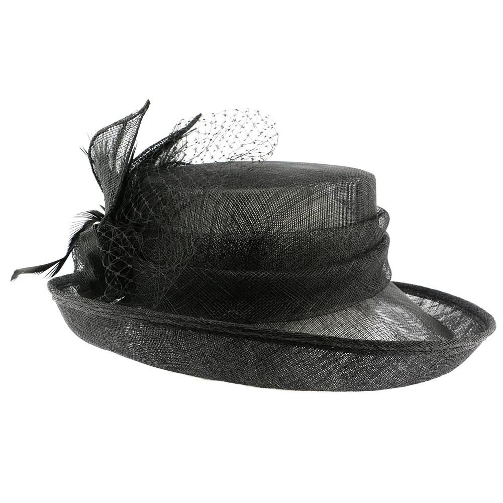 achat chapeau mariage noir luce capeline c r monie. Black Bedroom Furniture Sets. Home Design Ideas