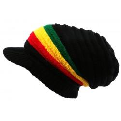 Casquette Bonnet Rasta Noir Jaune Rouge et Vert Jamaïque BONNETS Nyls Création