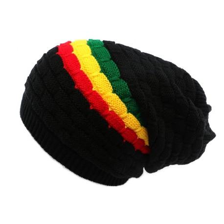 Bonnet Rasta Noir Rouge jaune et Vert Keep BONNETS Léon montane