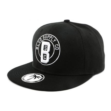 Snapback Noire BLVD par hip Hop Honour