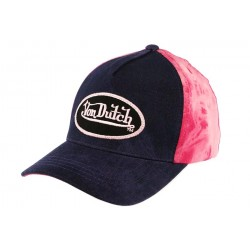 Casquette Baseball Marine et Fuchsia Kelly par Von Dutch ANCIENNES COLLECTIONS divers