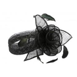 Chapeau Mariage Noir Serre tête Figue