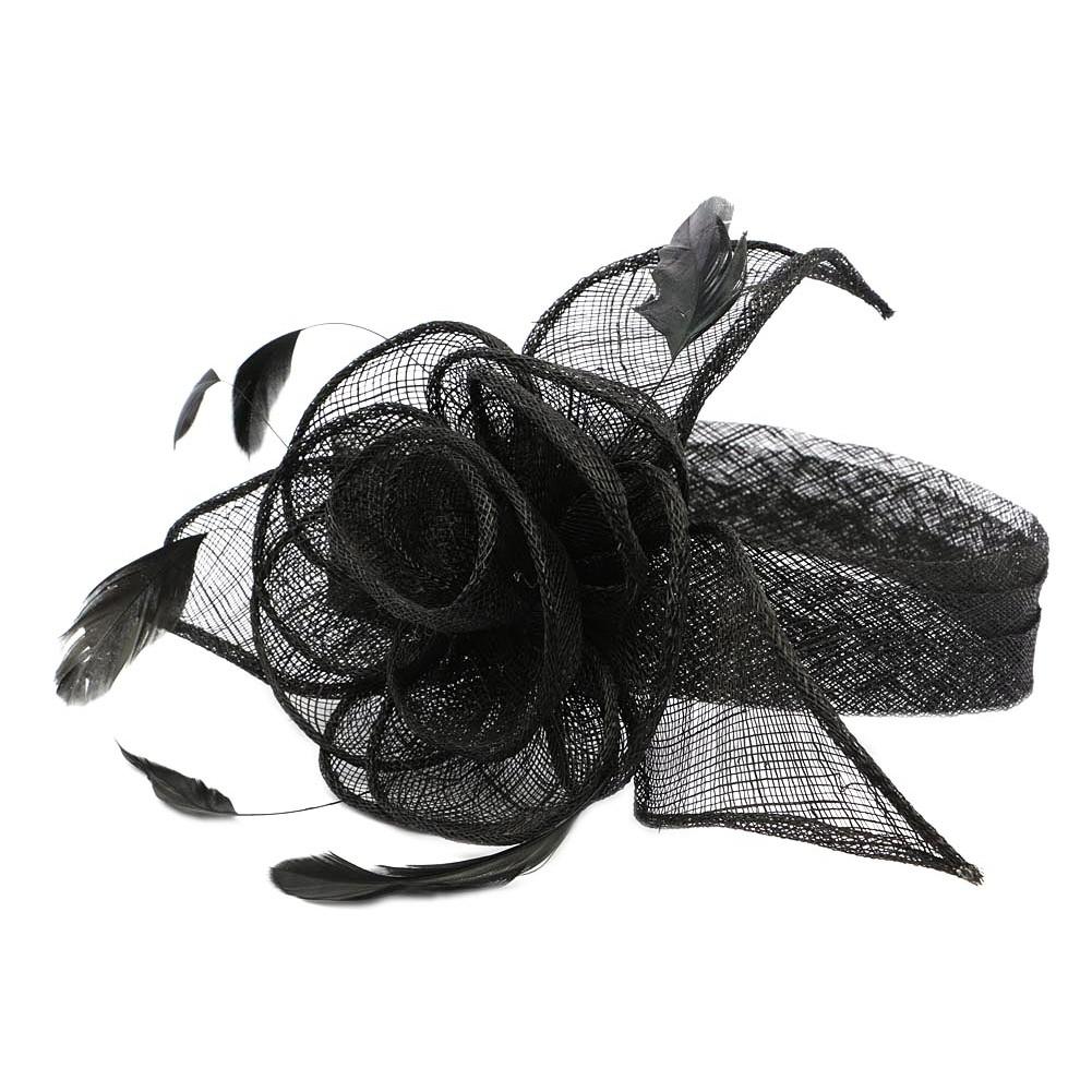 chapeau mariage noir serre tete achat chapeau mariage. Black Bedroom Furniture Sets. Home Design Ideas
