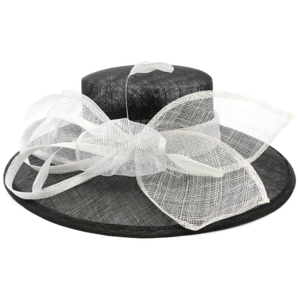 chapeau mariage noir et blanc achat chapeau sisal. Black Bedroom Furniture Sets. Home Design Ideas