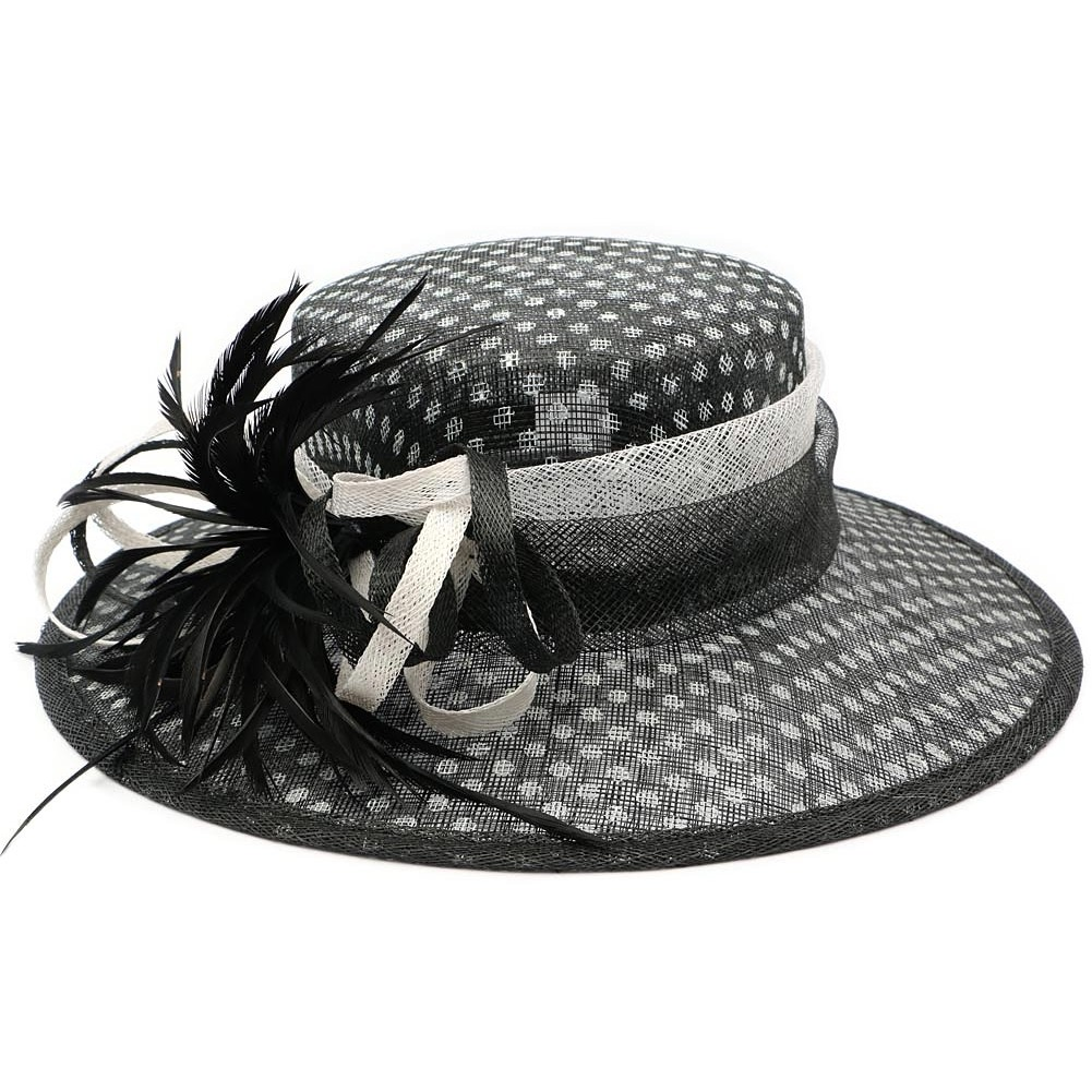 chapeau mariage pois achat chapeau mariage. Black Bedroom Furniture Sets. Home Design Ideas