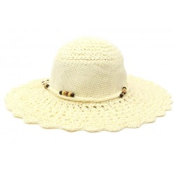 Chapeau de paille femme écru Lalya