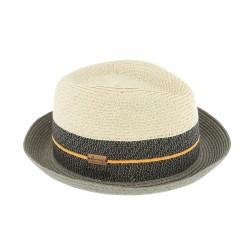 Chapeau paille Beige et Noir Timmy Herman Headwear