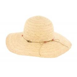 Chapeau paille Naturel mode Clara Herman Headwear