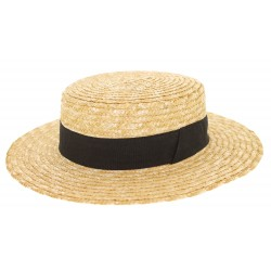 Chapeau Canotier paille naturel Herman headwear