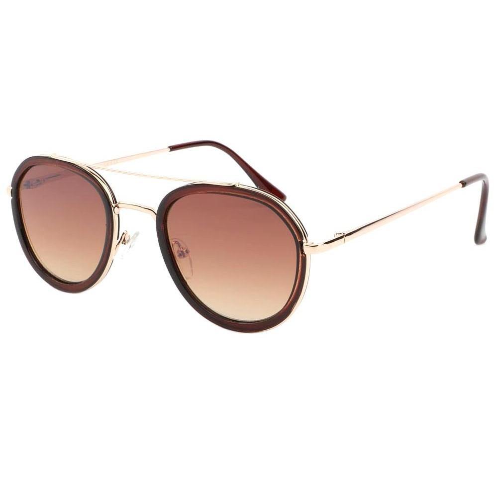 lunettes de soleil retro marron acajou verre plat lock livraison 48h. Black Bedroom Furniture Sets. Home Design Ideas