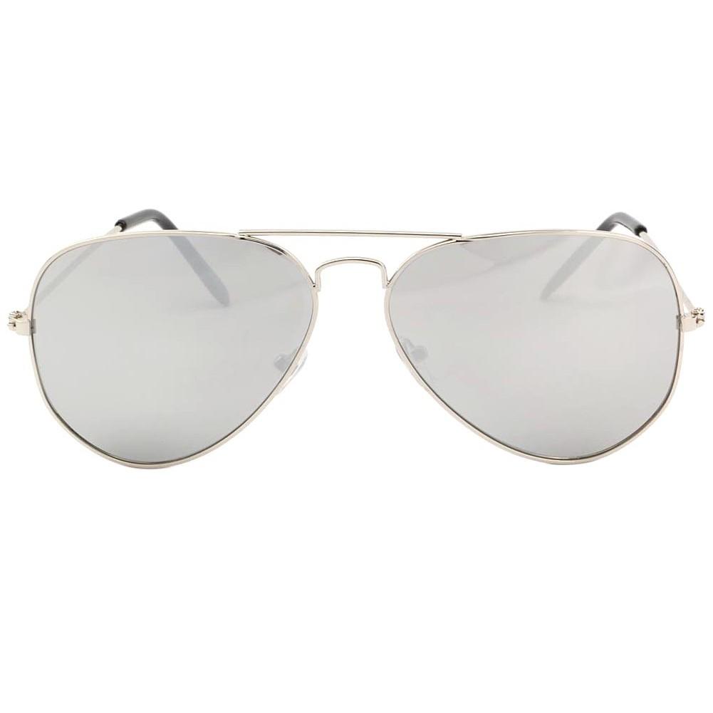 Lunettes de soleil aviateur argent verre miroir never for Lunette de soleil avec verre miroir