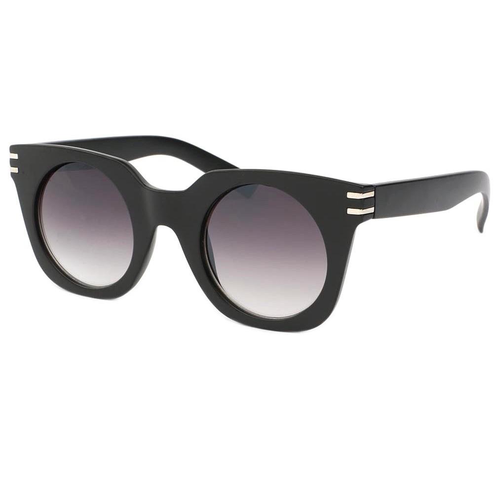 lunettes de soleil femme ronde noir mat meslay solaire mode pas cher. Black Bedroom Furniture Sets. Home Design Ideas