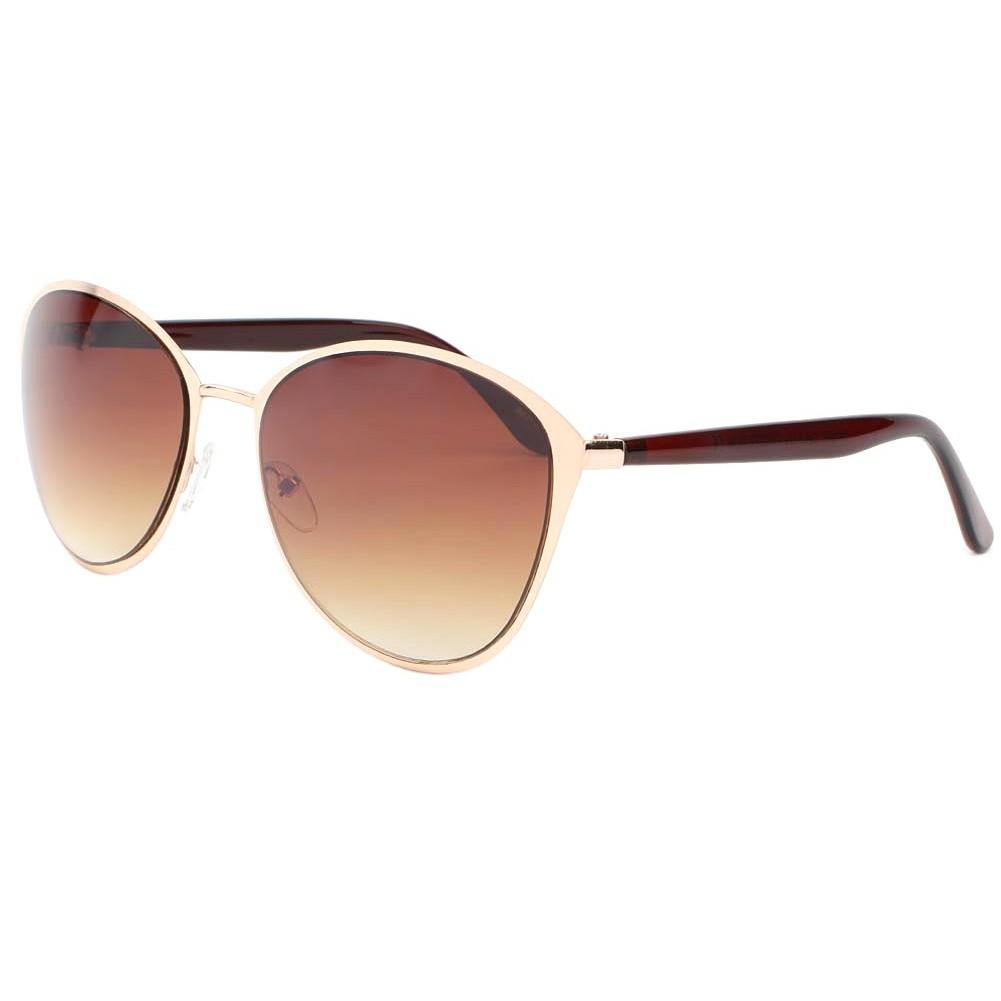 vente lunettes soleil femme dor et marron zoe solaire mode pas cher. Black Bedroom Furniture Sets. Home Design Ideas