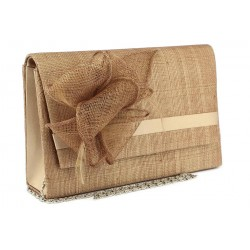 Pochette Mariage Marron en sisal Alexa ANCIENNES COLLECTIONS divers