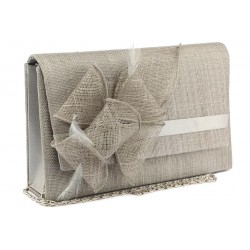 Pochette Mariage Grise en sisal Alexa ANCIENNES COLLECTIONS divers