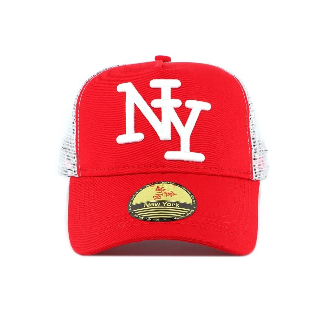 vente casquette ny enfant rouge forme baseball 7 12 ans livr 48h. Black Bedroom Furniture Sets. Home Design Ideas