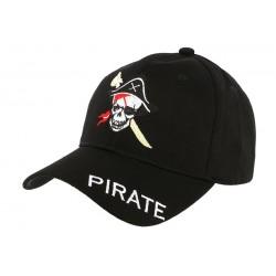 Casquette Baseball Noir Pirate CASQUETTES divers