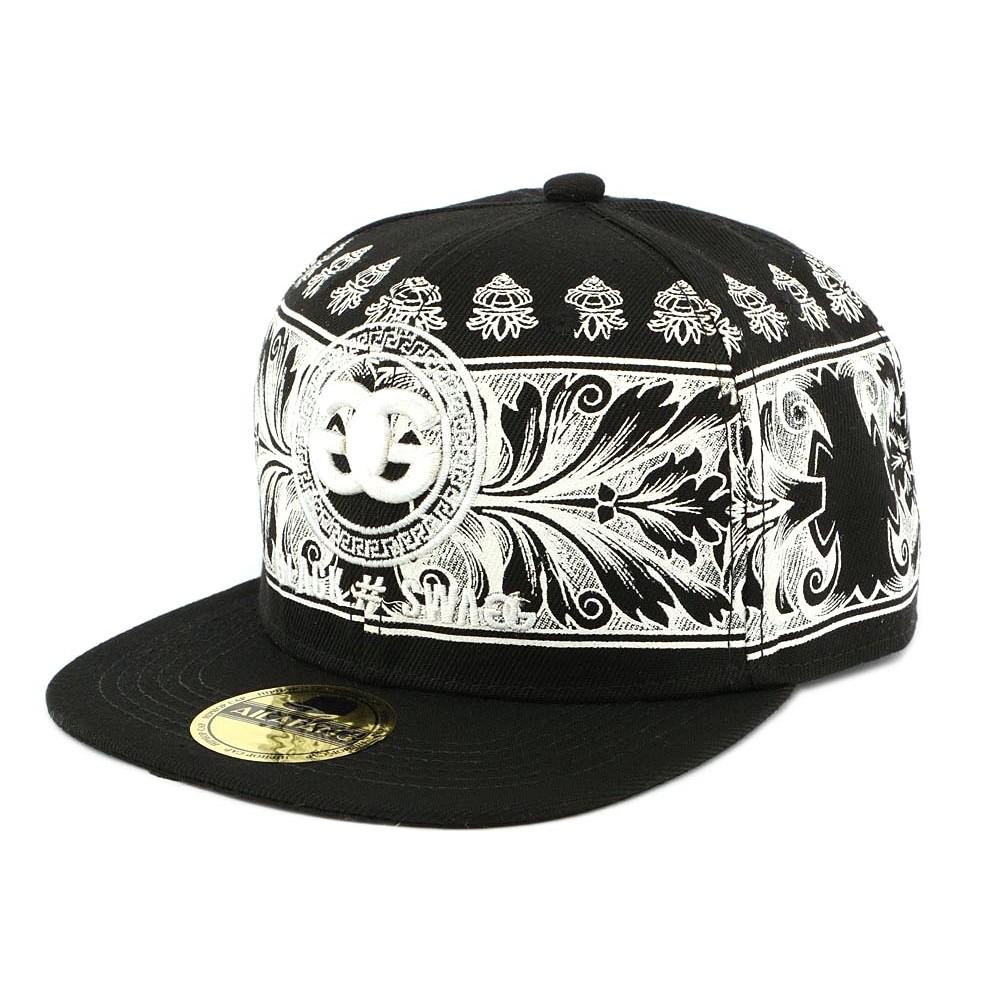 vente casquette swag gg noir et blanche luxe snapback black styl. Black Bedroom Furniture Sets. Home Design Ideas