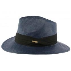 Chapeau de Paille Bleu Marine Théo CHAPEAUX Léon montane