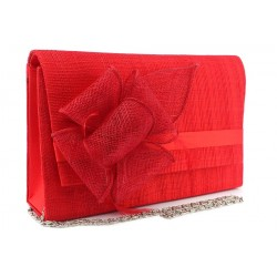 Pochette Mariage Rouge en sisal Alexa ANCIENNES COLLECTIONS divers