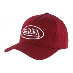 Casquette Baseball Bordeaux Von Dutch Tom