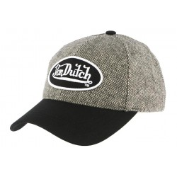Casquette Baseball Wilson Tweed marron Von Dutch