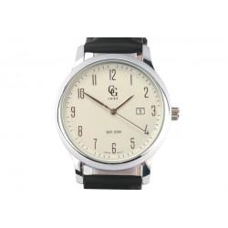 Montre Bracelet cuir noir et cadran acier Arthur Montre GG Luxe