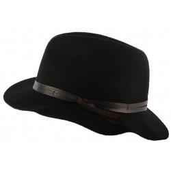 Chapeau fedora en feutre noir Obie par Bailey