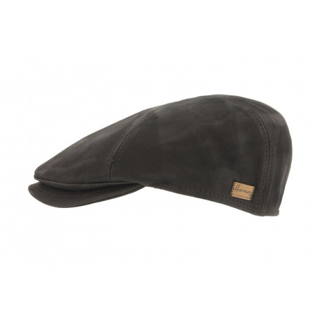 casquette cuir marron usurper achat casquette homme moderne livr 48h. Black Bedroom Furniture Sets. Home Design Ideas