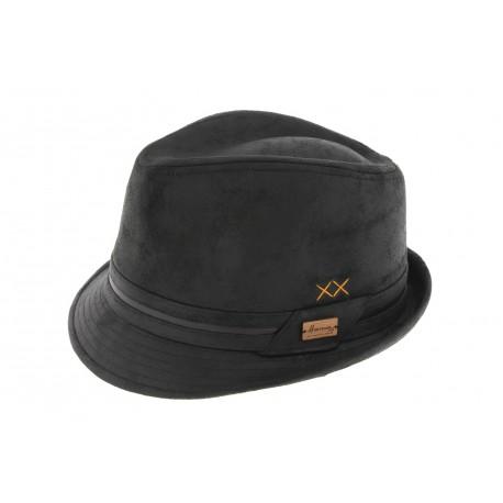 classique se connecter le magasin Chapeau Trilby Noir Kairan Herman, achat trilby Homme cuir livré 48h