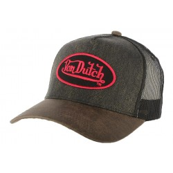 Casquette Trucker Von Dutch Rob Marron CASQUETTES VON DUTCH