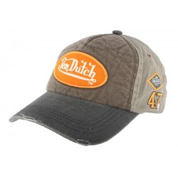 Casquette Baseball Von Dutch Jack Gris et Marron CASQUETTES VON DUTCH