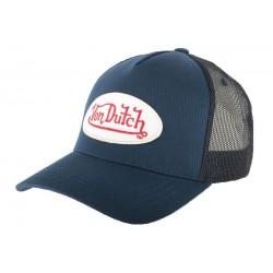Casquette Trucker Von Dutch Bleu BM CASQUETTES VON DUTCH