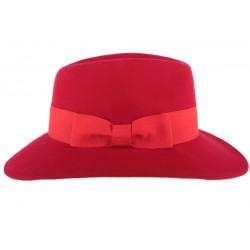 Chapeau femme rouge en feutre Stael CHAPEAUX Léon montane