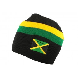 Bonnet Jamaicain Noir Jaune et Vert BONNETS Nyls Création