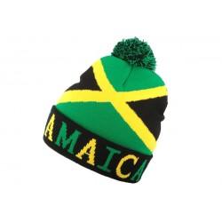 Bonnet Pompon Rasta Jamaica