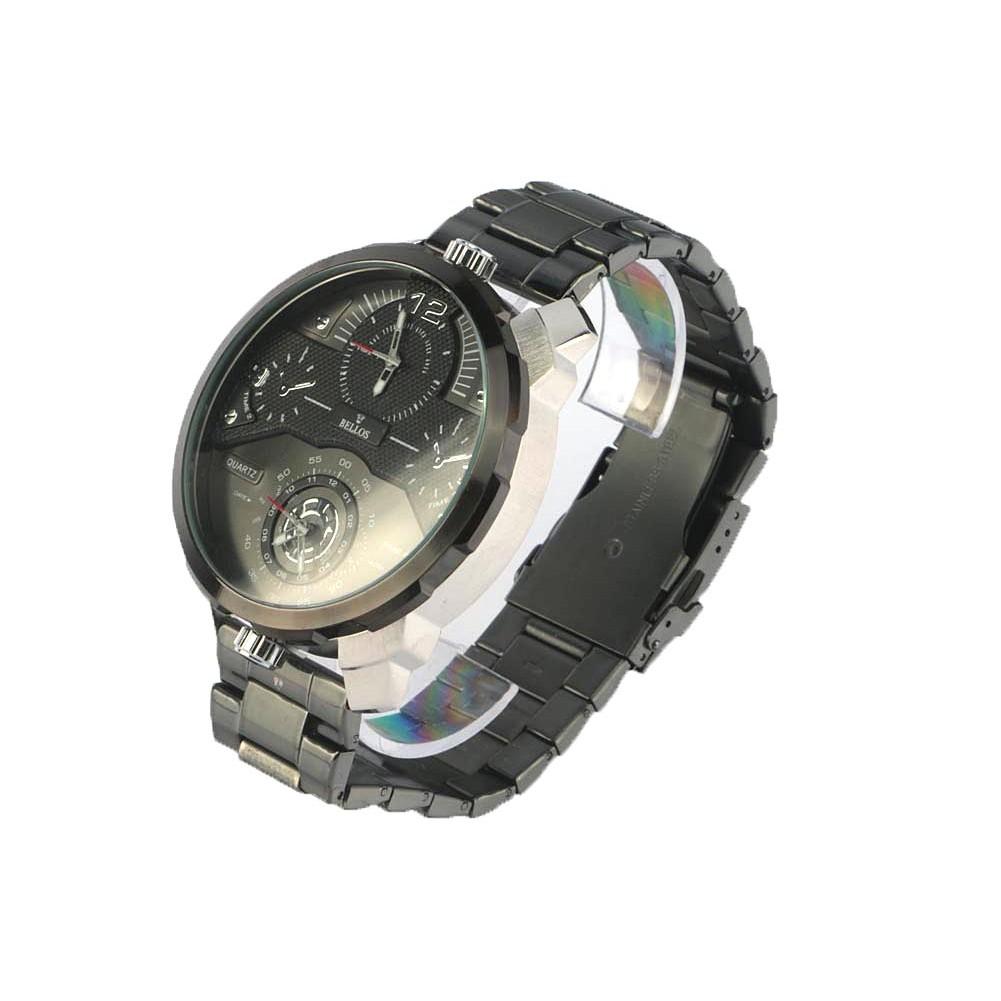 grosse montre homme noire m tal akel montre sport pas cher livr 48h. Black Bedroom Furniture Sets. Home Design Ideas