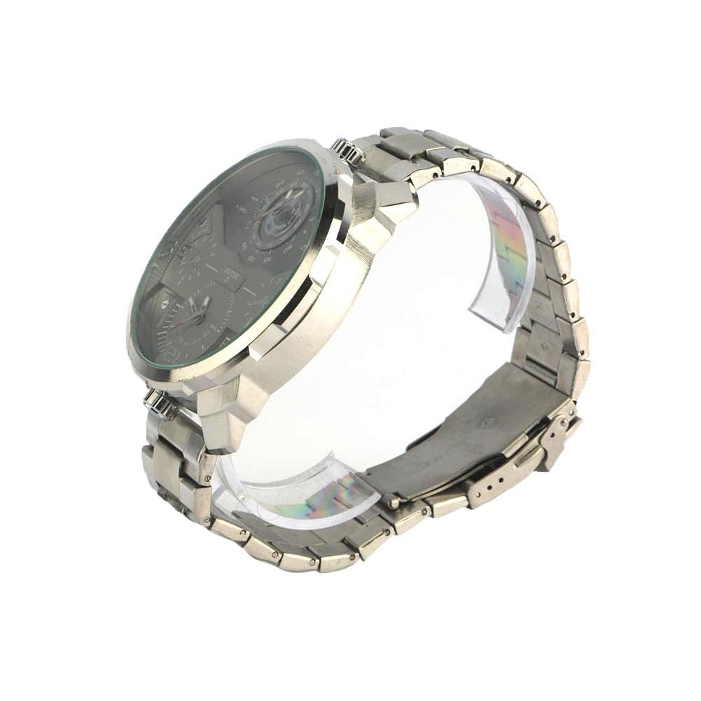 grosse montre homme acier grise akel montre bracelet mode livr 48h. Black Bedroom Furniture Sets. Home Design Ideas