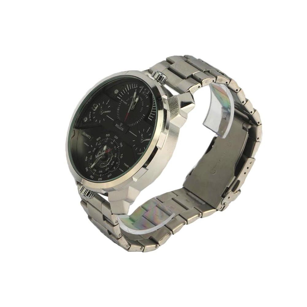 grosse montre homme acier noire grise akel montre tendance livr 48h. Black Bedroom Furniture Sets. Home Design Ideas