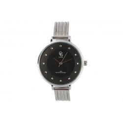 Montre femme noire bracelet argent Mary Montre GG Luxe