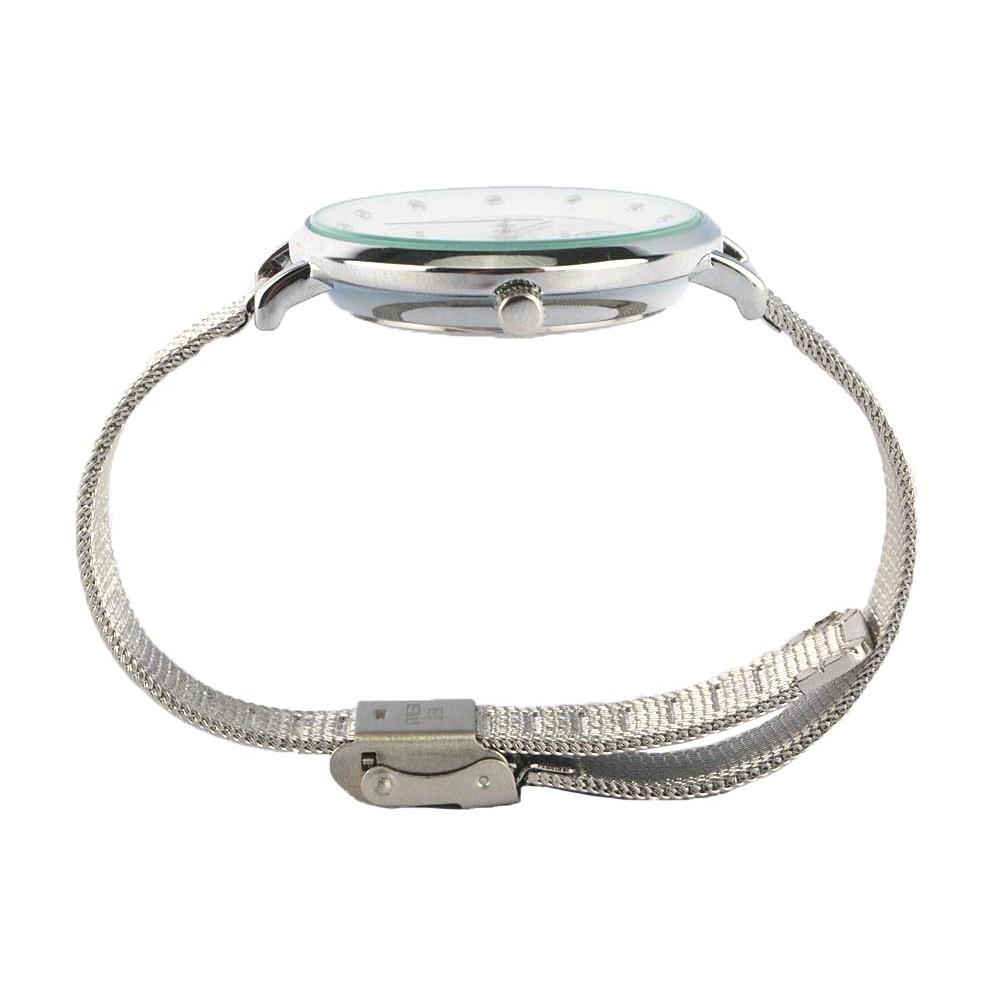 montre femme blanche montre bracelet maille milanaise. Black Bedroom Furniture Sets. Home Design Ideas