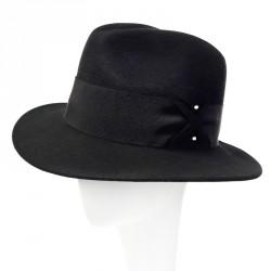 Chapeau fédora Noir Anouar Céline Robert