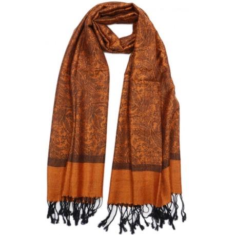 Echarpe pashmina Orange Delhi, foulard pashmina mode chic livré 48h! 8a339ebd6bd