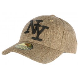 Casquette Baseball NY Marron Chiné ANCIENNES COLLECTIONS divers