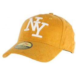 Casquette Baseball NY Jaune façon daim ANCIENNES COLLECTIONS divers