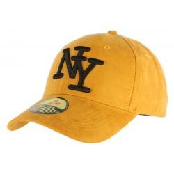 Casquette Baseball NY Jaune et Noir daim ANCIENNES COLLECTIONS divers