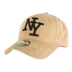 Casquette Baseball NY Beige façon daim ANCIENNES COLLECTIONS divers