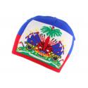 Bonnet Drapeau Haiti Bleu et Rouge