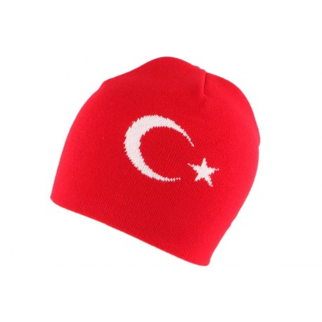 Bonnet Turquie Rouge et Blanc BONNETS Nyls Création