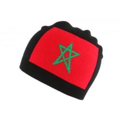 Bonnet Maroc Noir et Rouge BONNETS Nyls Création